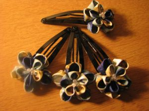 Double layer Kanzashi Flower Hair Clip Feature
